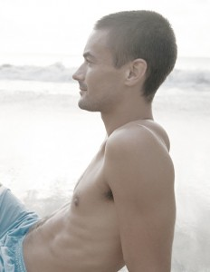 pectoral implants male model